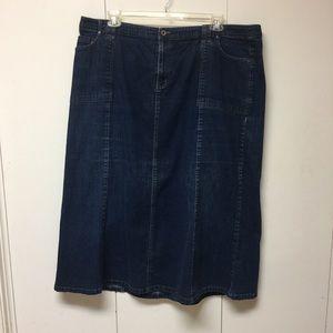 Dresses & Skirts - Pretty plus size blue jean maxi skirt.